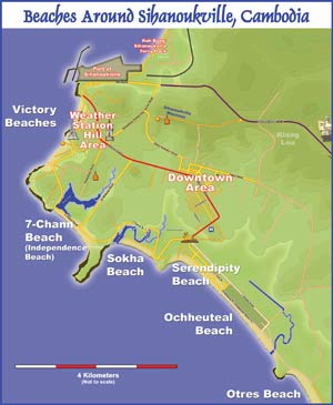Sihanouk beach Map